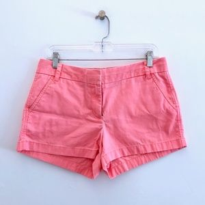 J. Crew Broken-in Chino Shorts Neon Pink Coral